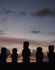 复活节岛巨人石像图片