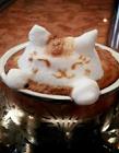 创意十足的咖啡奶泡图片