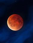 世界各地血色月亮奇观