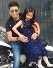 沙宝亮七岁女儿沙可萱照片神似老婆朱娜