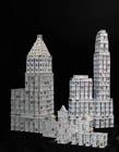 扑克牌建筑,扑克牌建筑模型教学