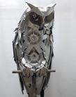 废旧轮胎钢圈做成栩栩如生的雕塑