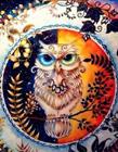 秘密花园涂色作品展示 秘密花园涂色作品猫头鹰