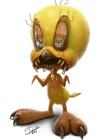 恶魔化的童年卡通人物