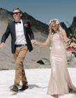 雪山婚�照
