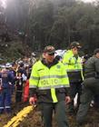 巴西飞机坠毁现场 巴西足球队坠机