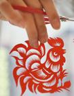剪纸鸡图案 鸡年剪纸图片