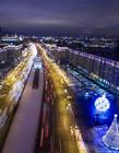 莫斯科夜景�D片 俄�_斯莫斯科夜景