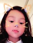甜馨现在的照片 甜馨4岁