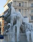 喷泉结冰图片