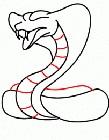 眼镜蛇简笔画图片大全