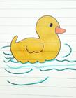 鸭子游泳简笔画 简笔画鸭子游泳的画法