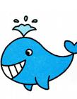 可爱鲸鱼简笔画图片