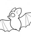 蝙蝠简笔画图片教程