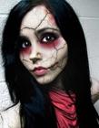 面部恐怖化妆图片