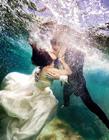 海底男女婚纱照图片