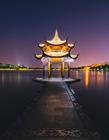 杭州西湖夜景图片