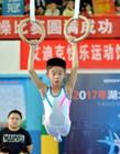 杨威儿子首次参加体操比赛