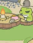 旅行青蛙动态表情包 青蛙旅行gif动态图表情