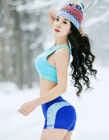 雪地瑜伽唯美图片大全 雪地上练瑜伽