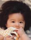 小孩发量多可爱图片 日本发量宝宝图片 发量惊人的小孩