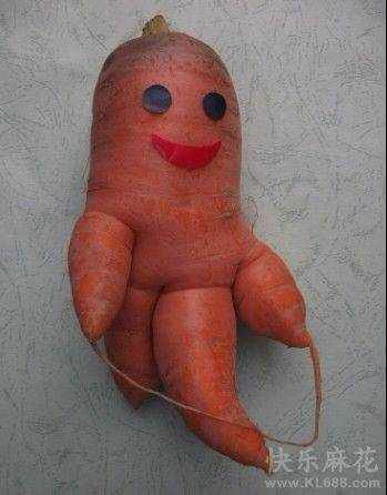 搞怪蔬菜�D片之有喜感的�}卜娃娃