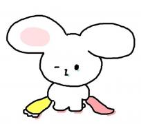 小孩彩色卡通动物简笔画动物图