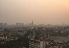 云南西双版纳出现雾霾