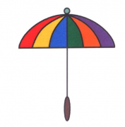 雨伞的画法手账简笔画