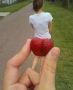 美女水果恶搞图片