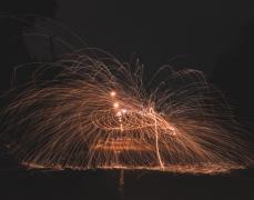 火花延时摄影高清图片素材