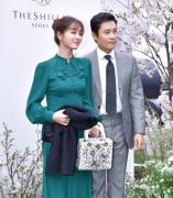 李秉宪李珉廷夫妇出席李贞贤的婚礼图