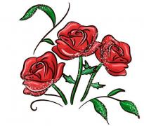 玫瑰花植物简笔画步骤画法图片