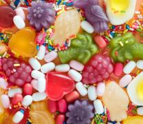 五彩色的甜品美食零食高清�D片