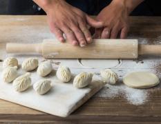 饺子美食制作过程高清图片