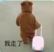 抖音小孩拉行李箱可爱搞笑表情包