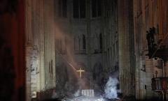 巴黎圣母院火灾后内部照片曝光图