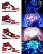 一个球鞋的思考对比图片