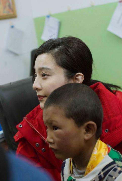 范冰冰西藏公益图片