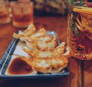 小吃煎饺的图片