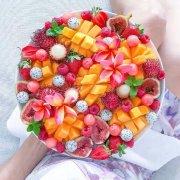 好看创意的水果拼盘图片
