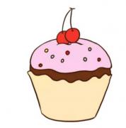 纸杯蛋糕简笔画