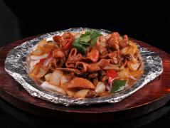 干锅肥肠图片