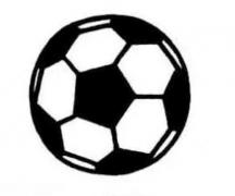 足球简笔画图