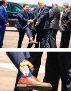 恶搞川普发型的袜子图片