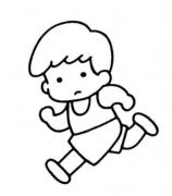 跑步的卡通人物��P��