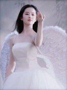 刘亦菲穿着翅膀的仙
