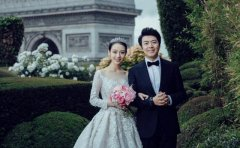 郎朗�Y婚的婚�照片