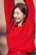 成熟美女明星江疏影性感红裙阳光大片图