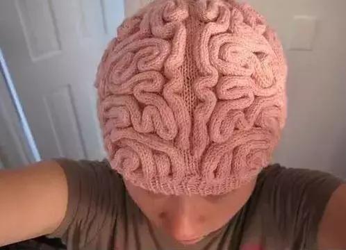 搞笑个性创意的脑子针织帽子